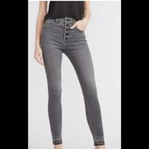 Express skinny high rise jeans